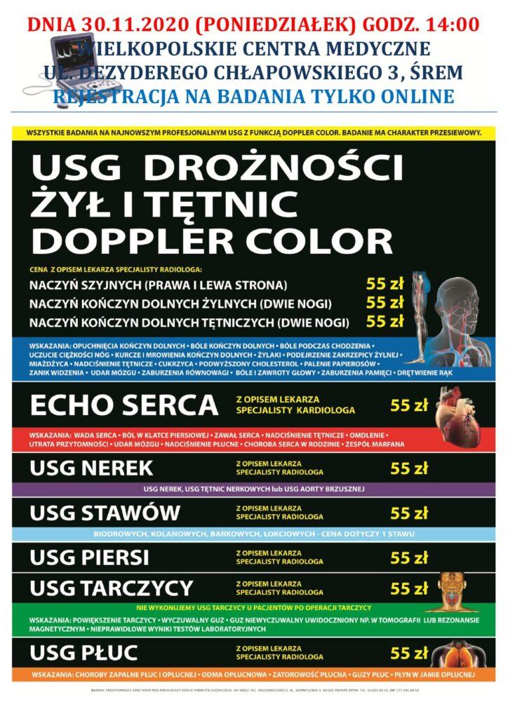 plakat badania USG Śrem